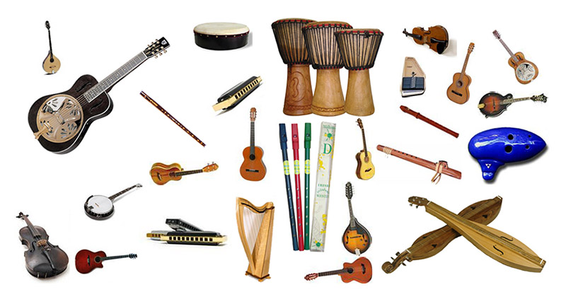 Folk instruments sold and rented by Apple Mountain Music